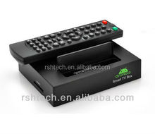 Dual core android 4.2 smart tv box with Allwinner A20 chipset 1GB RAM 8GB ROM ,built in RTC battery,6*usb port
