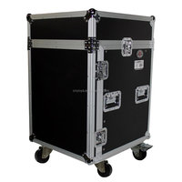 14U Rack x 10U Top Mixer DJ Combo Flight Case