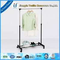 single-pole mobile clothes rack store