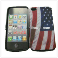 Printing america flag mobile phone case for Iphone4/4s