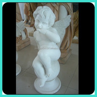 stone small angel sculpture