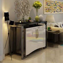 Modern console table with stainless steel decoration handle produced by JL&C furniture latest designs (China supplier)