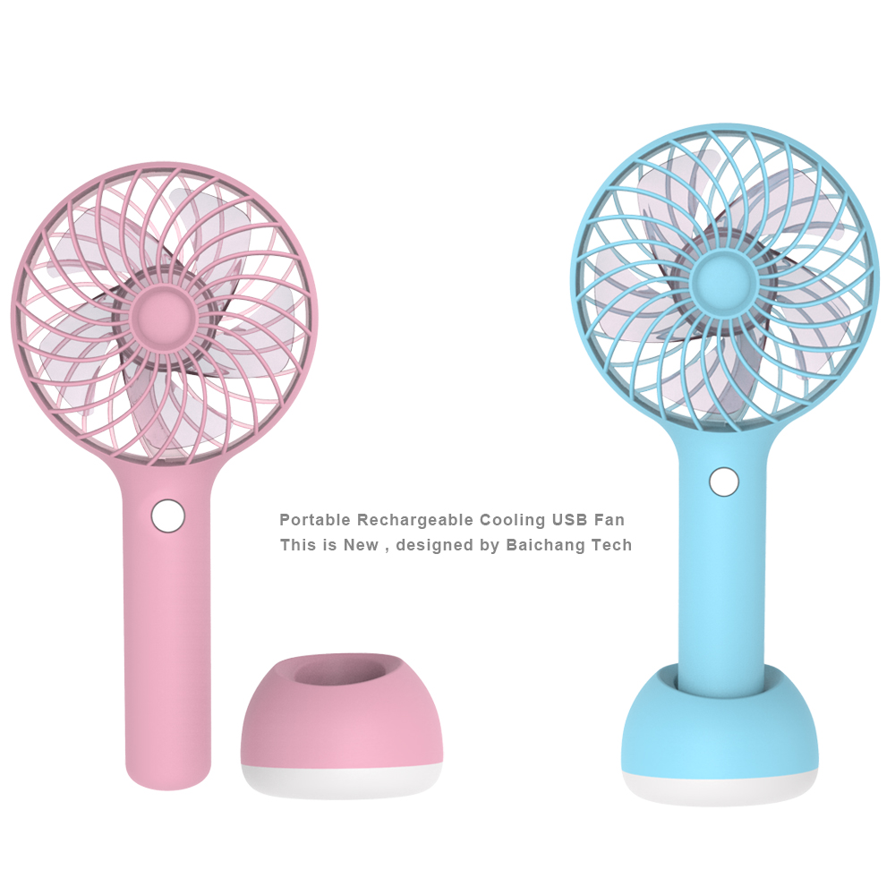 Mini Portable USB  Air Conditioner Fan Travel Handheld Rechargeable Cooling Fan