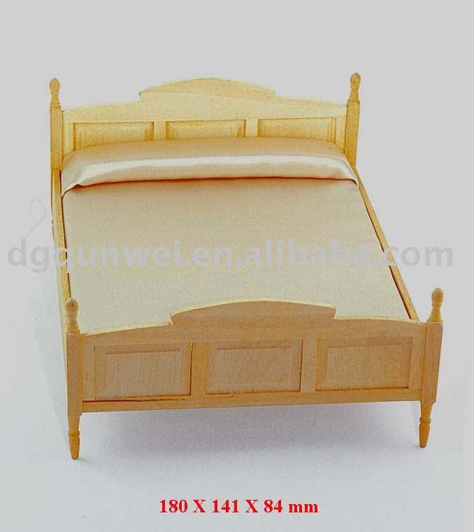 Juguete de madera Mini Muebles CamaJuguetes de muebles