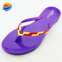 China Market Shoes Summer Jelly Color Sandals for Women New Arrivals 1J717+3W