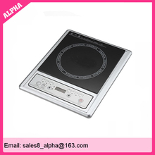 Polished black crystal plate white 1 induction hob