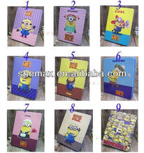 Despicable Me Minion Cartoon Stand Leather Case Cover For Samsung Galaxy Tab 3 10.1