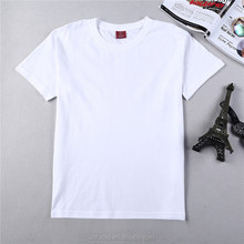wholesale blank cheap promotion white cotton t-shirt printing