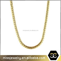 hip hop mens 14k gold franco wheat chain