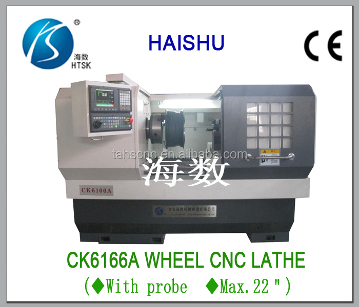 HIGH QUALITY AND LOW PRICE ) wheel repair machine CK6166A cnc lathe for making car, turck alloy wheels