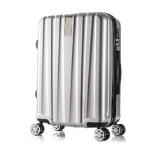 Luxury ABS PC trolley travel luggage with rotary wheels/360 degree wheels