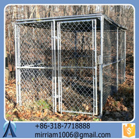 Fashionable comfortable safe convenient low price beautiful high quality wrought iron galvanized outdoor dog cage/kennel