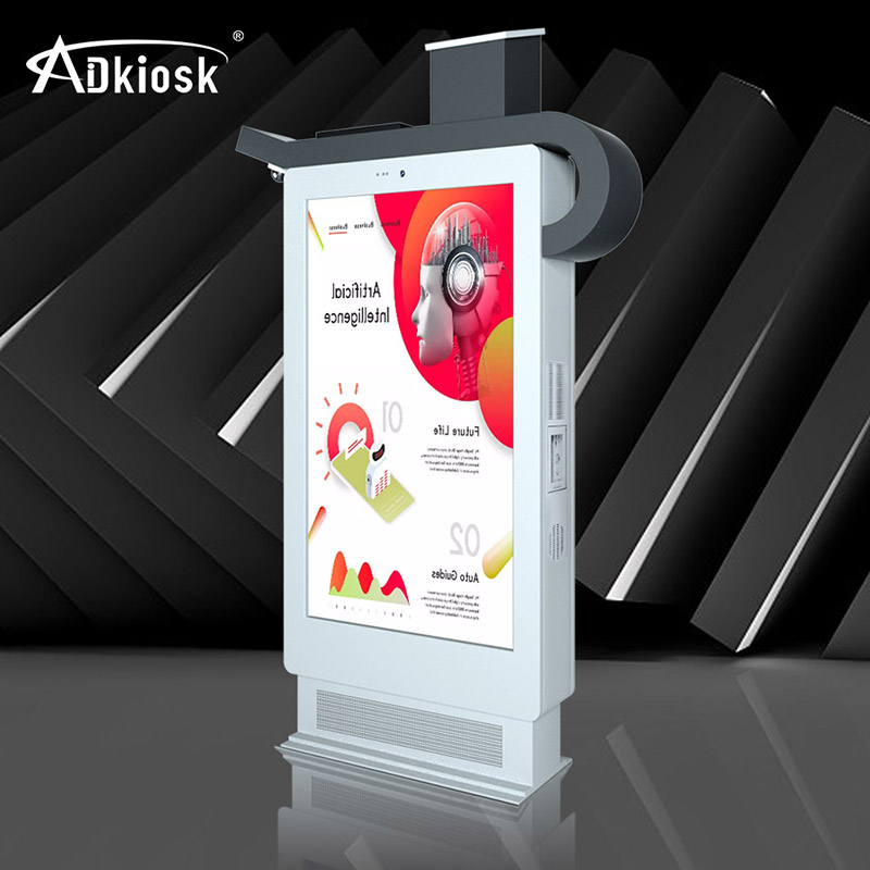 new style high brightness 1500 nits half- outdoor large speaker touch screen wall mounted lcd display