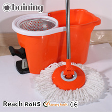 New design with bucket system easy wring microfiber spin mop