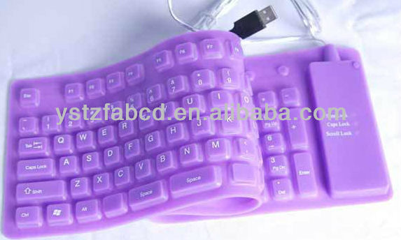 2013 new design purple Silicone computer keyboard