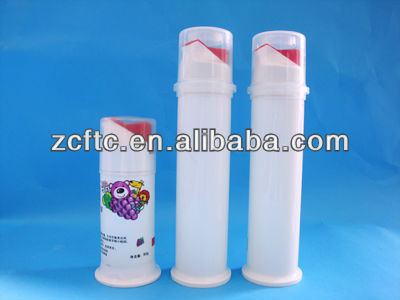 pump toothpaste tube/airless bottle for toothpaste
