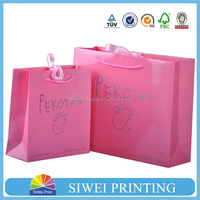 2016 new fancy luxury custom logo printed recycled shopping bag,,paper bag printing, paper carrier bag with handle