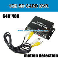 motion detection sd card video recorder with av in/out, real time video recording