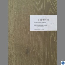 Wire brushed UV lacquer Oak engineered wood flooring-SY8014
