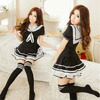 Sexy Lingerie School Girl Sailor Costume Cosplay Japan Uniform Dress With Stockings BWG12953