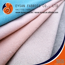 EYSAN French Terry Knitted Polyester Cotton Silver Thread Fabric