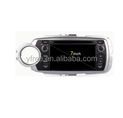 for toyota Yaris 2012 Android car dvd players with GPS navigator auto double din radio navigation 2 audio video system