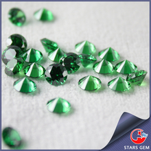 sales round star cut 81 facet emerald green May cz birthstone for cz jewelry