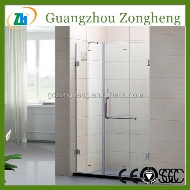 Glass Shower Screen Door Pivot corner bathroom made in china