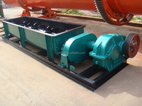 Double shaft mixer used in briquetting line