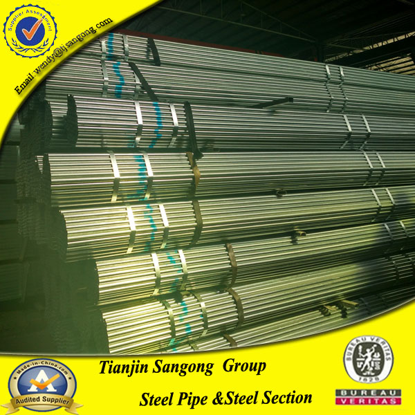 Galv. steel pipe / Q235 scaffolding pre galvanized steel pipe
