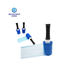 2018 Hot Sell 15mic Blue Protective Lldpe Plastic Wrap Film Wrap