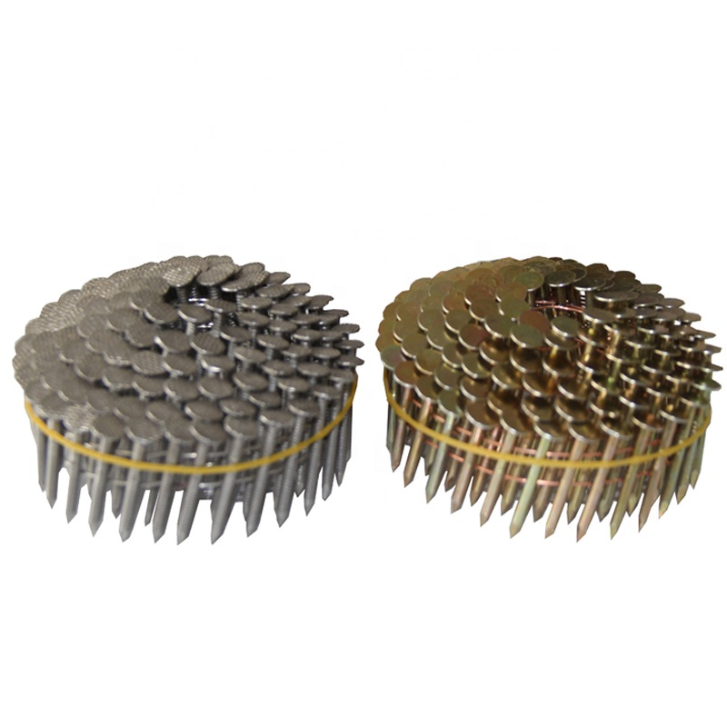 2018 hot sale smooth copper coil roofing nails with umbrella head