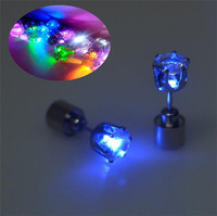 Novelty magnetic led flashing earring cheap cute earrings for party