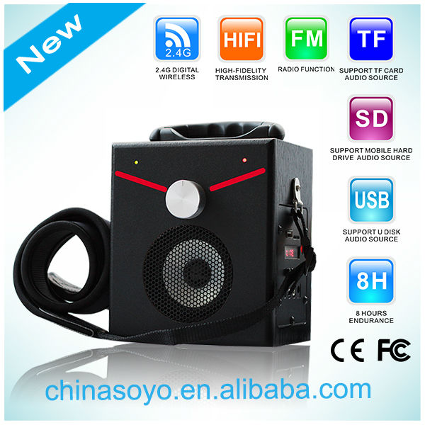 Portable speakers with Bluetooth/FM/SD/TF/USB/MP3/MIC function