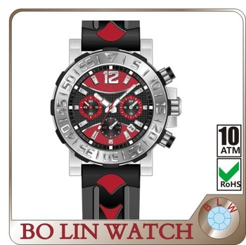 cheap silicon high quality watch 2015 stainless steel back watch High grade water resistant, OEM brand