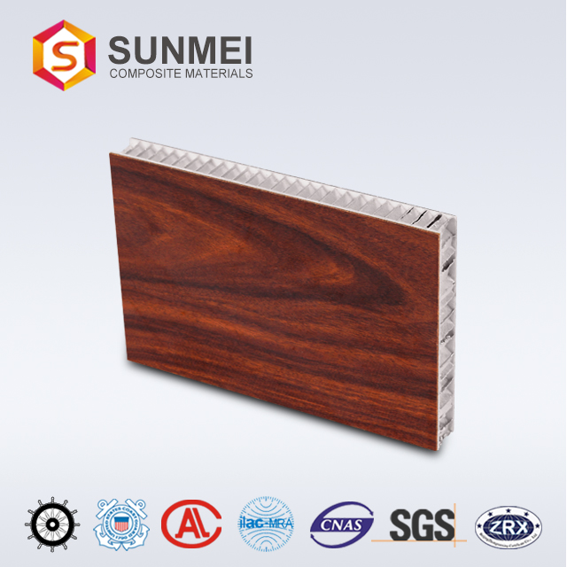 Ecofriendly bamboo commercial exterior aluminium honeycomb panel for wall cladding