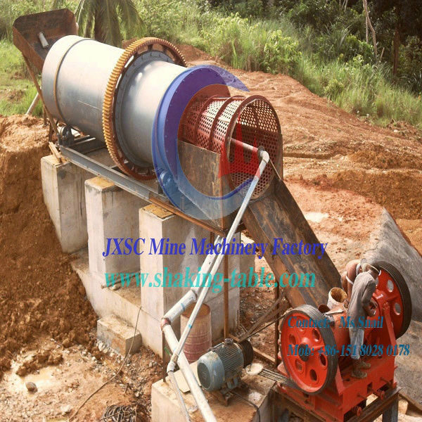 Large Capaility River Fine Gold Dust Wash Rolling Scrubber Machine for Sudan Gold Process
