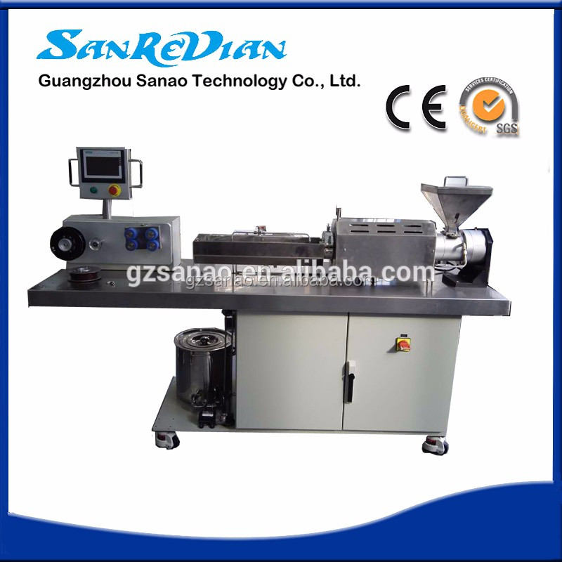Mini Single Screw Extruder Machine For 3D Printer Filament Materials/desktop plastic extruder