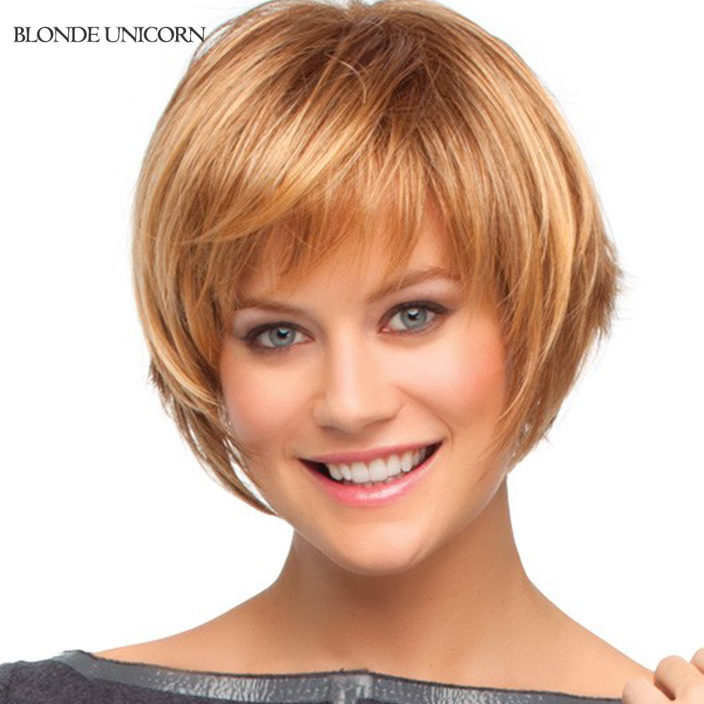 Blonde Unicorn Fashion Wig Elegant Short Human Hair Wigs For Women Human Hair Wigs