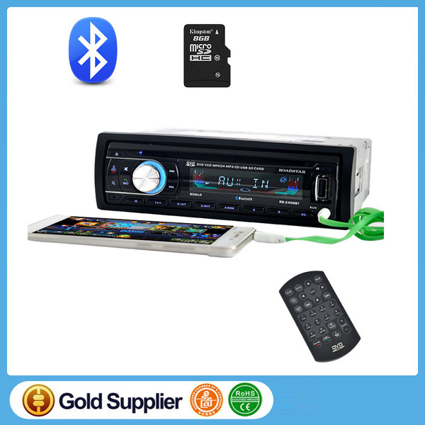 New Car Audio Stereo Bluetooth DVD/CD/MP3 Cassette Player for Cars FM Auto Radios 1 din Remote Control 12V Automotive cd Player