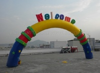 Factory price cheap inflatable arch, event inflatable welcome entrance arch K4025