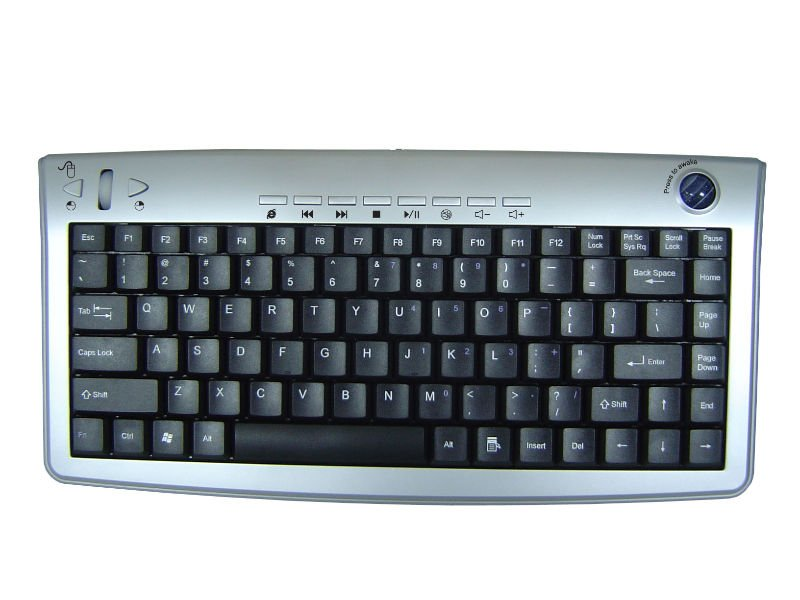 Slim Keyboard With Optical Trackball