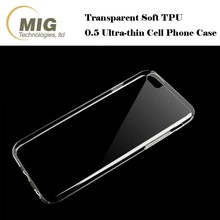 0.5mm Ultra-thin Transparent soft TPU Phone accessories for iPhone 7 Cover case high quality material Clear bumper cover