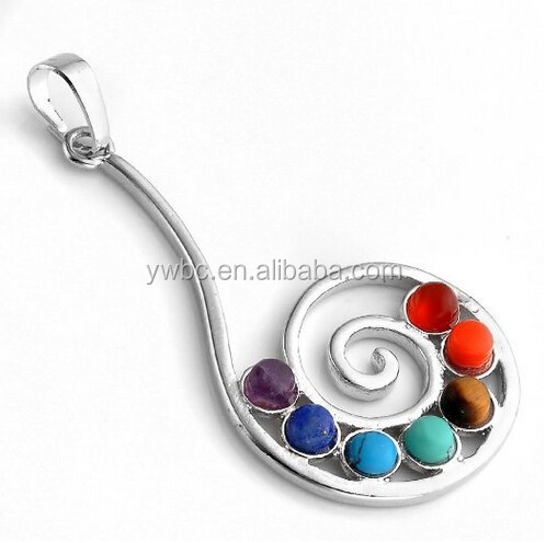 New updated product 7 Chakra Stone Pendant Crystal Reiki Healing Balancing Note Chou Rei Style jewelry