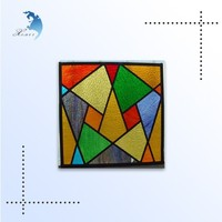 Chinese suppliers architectural large stained glass sheet for customized
