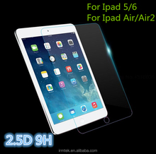 High Quality Laptop 2.5D Curved 9H Tempered Glass Screen Protector Glass Film For Ipad5 6 Air Air2 Tempered Glass Screen