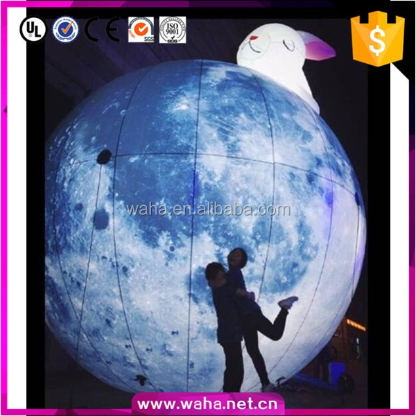 Customized creative inflatable planet ball,outdoor decoration use