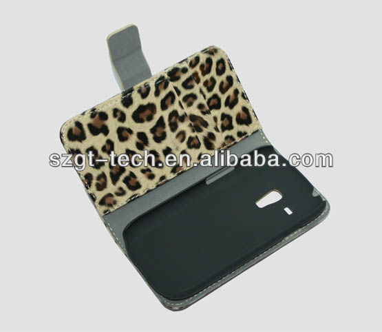Fashion leopard grain PU leather case for Samsung galaxy S3 i9300 mini i8190 with stand