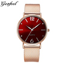Top 10 Watch Brands 3atm Waterproof PU Leather fake Mesh strap Girl Latest Hand Watch