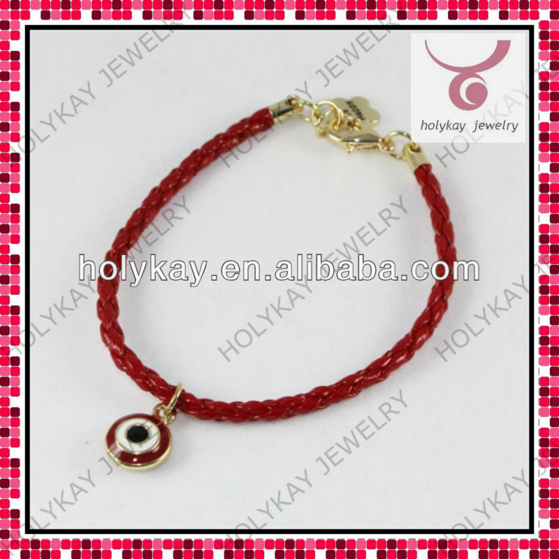 New style adjustable cord bracelet,evil eye waxed cord bracelet,good lucky bracele